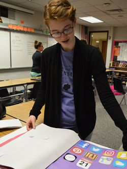 """I like challenges,"""" says Katie Marentette, who won a state contest for a letter she wrote to Leo Tolstoy after reading his famous novel, """"War and Peace"""""""