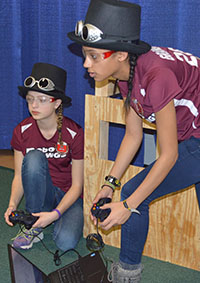 Grandville High School sophomores practice before competition