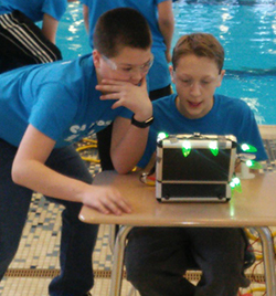 C.A. Frost students navigate their underwater robots