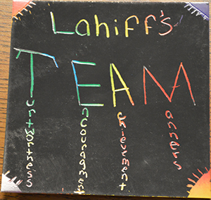Sixth-grader Alejandra Panigua made a picture for TEAM time