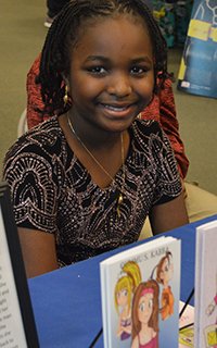 Oummu S. Kabba, 10, has published three books and has a fourth soon to be released