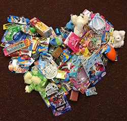 First-graders in Melissa Austin's class donated poke prizes to give to patients at Helen DeVos Children's Hospital