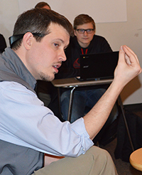 English teacher Mike Traywick talks sci-fi in a class based on science fiction