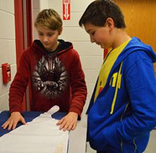 Sam Norberg and Noah Graves line up their cape pattern
