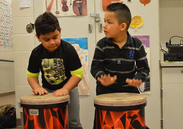 For many students, the only opportunity to play music is at school