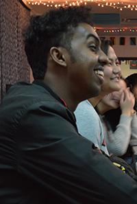 Arafat enjoys an English language-learner student's narrative in English class