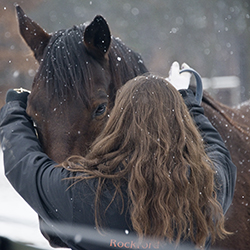 Taylor fell in love with horses when she first saw them at the Equest Center