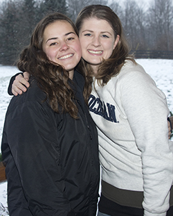 Taylor Jones and her mentor, Shelly Fox, assistant equine program coordinator at the Equest Center for Therapeutic Riding