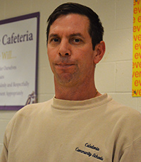 Custodian Fred Cox takes time to get to know students while he works
