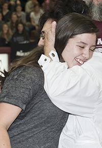 Laura Hernandez takes joy in her family's hugs