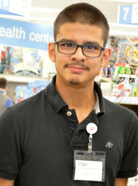 Senior Edgar Juarez is ready to work