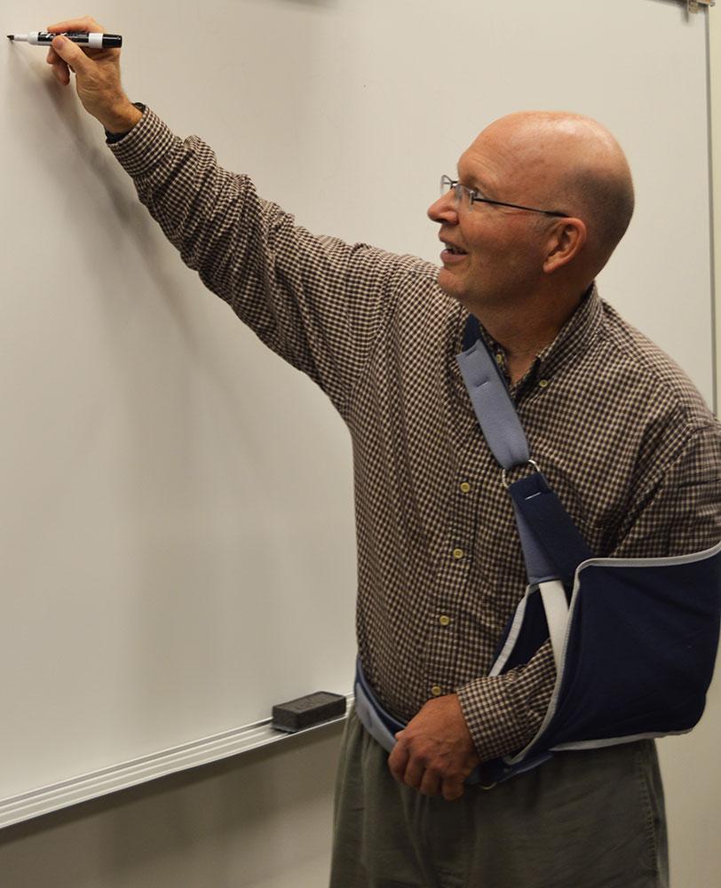 Tim Pennings, mathematics department chair, writes Fibonacci numbers