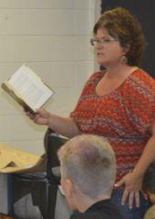 "Teacher Kathy Vogel reads aloud the novel ""Pax"" for her seventh-graders"