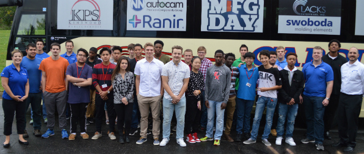 Students make a stop at Swoboda for a Manufacturing Week tour