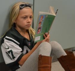 Marshall Elementary Third-grader Audrey Conrad reads