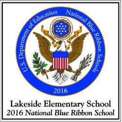 The Blue Ribbon Emblem hangs in Lakeside's main hallway
