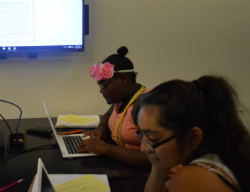 Students can look at small or large screen for assignment information