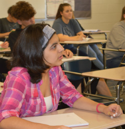 Junior Claudia Gonzalez said she chose to enroll in the Wyoming Middle College to save money