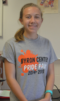 Senior Kaitlyn Lein learned about techniques used in top research hospitals over the summer