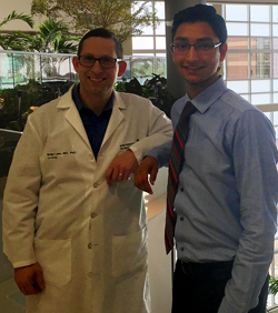 Recent Forest Hills Central graduate Ruchir Gupta conducted research with Dr. Brian Lane, a urologist at Spectrum Health