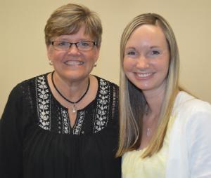 Counselors Sheila Dubbink, left, and Katie Erickson