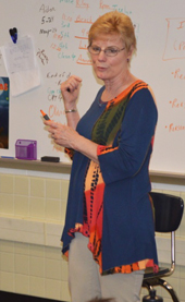 """""""I think"""" and """"I believe"""" are opinions, not facts, Sue Blackall tells her third grade class"""