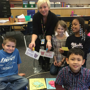 Counselor Lisa VanKampen is helping students develop a common language around bucket filling at school