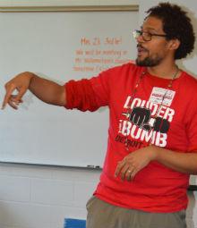 Detroit-area poet Justin Rogers