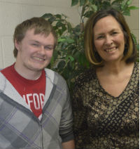 """""""He's just blossomed,"""" Shelley Bauer says of Robert Brant, a student at New Beginnings High School"""
