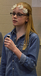 """Seventh-grader Arica Wade leads Queen's 1976 song, """"Somebody to Love"""""""