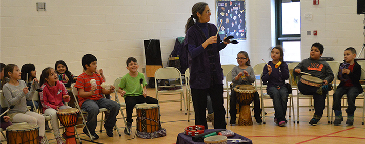 Music naturally emerges from gathering together with drums