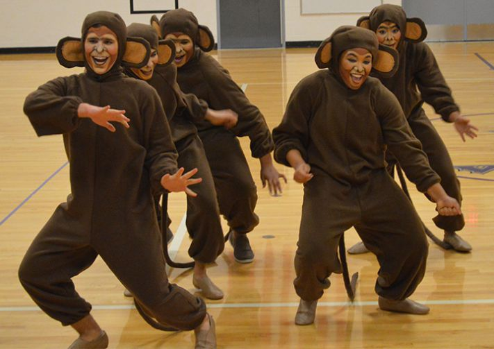 The event wouldn't have been the same without dancing monkeys