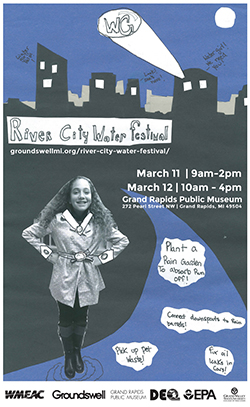 First place winner Zoe Kukla's poster for the River City Water Festival