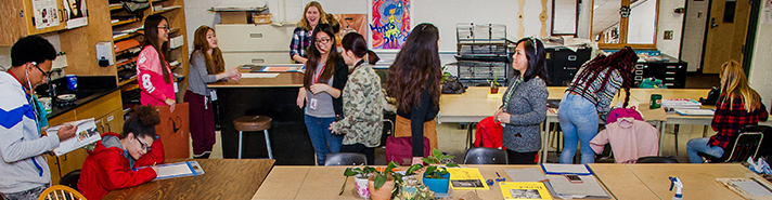 East Kentwood Honor's Art class