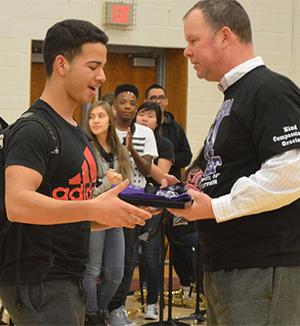 Sophomore Bryan Rosello Lizardo is named a supreme pack leader