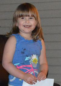 Three-year-old Suzi Doxtater got an early Christmas present