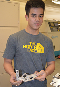 Senior Tommy Nguyen has had to tweak a few things because of standardized parts the class is now using