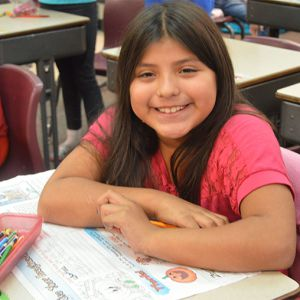 Fourth-grader Ayanna Villano wants to become a teacher