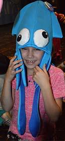 Kaylee Ochoa makes a happy squid