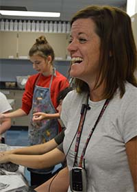 Holly Lampen has inspired many students to find the artist in themselves