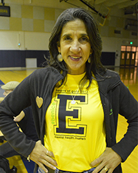 """Christy Buck, shown here with a """"Be Nice"""" campaign T-shirt, says social stigma stops many students from getting help"""
