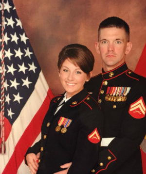 Holli and Brandon Griffith are U.S. Marines stationed at Camp Lejeune, N.C.