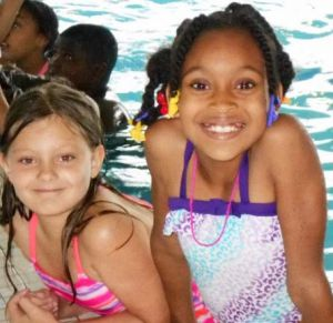 Students in TEAM 21 spend a summer day swimming