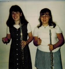 Elizabeth Wisniewski, right, and best friend Kelly Hill, middle school flautists extraordinaire