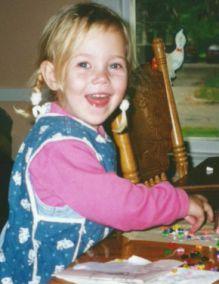 Sophia Luettke at home at age 3