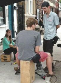 "Sophia on set of the short film ""Bird"" in 2013"