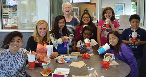 McDonald's is a special treat from the principal for Southeast Kelloggsville students