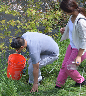 Lee Middle School students release the fish, setting them on a journey to Lake Michigan