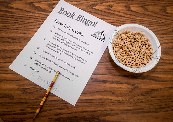 Families played 15 rounds of Book Bingo