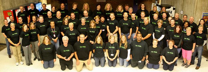 An ongoing Be Nice campaign – with shirts worn by all the Tech Center staff – is one of the many initiatives under John's leadership